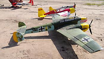 DURAFLY Messerschmitt BF-110 - 1200mm