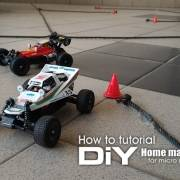 How to tutorial: DIY home made R/C track for micro racing models - low budget